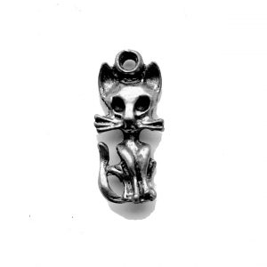 Spooky Cat – Pewter Charm