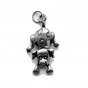 Spotted Dog With Swivel Head – Pewter Charm