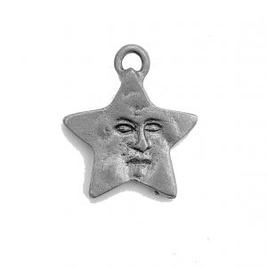 Star With Face – Pewter Charm