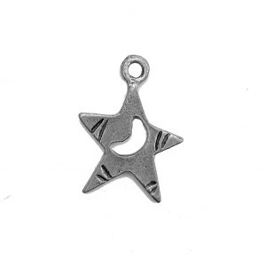 Star With Moon – Pewter Charm