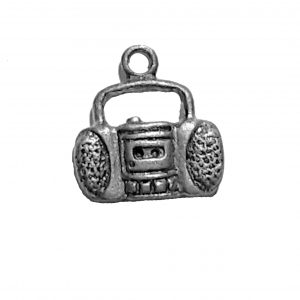 Stereo Charm – Pewter Charm
