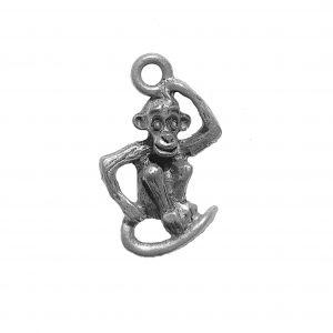 Thinking Monkey – Pewter Charm
