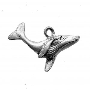 Whale Tail Up – Pewter Charm