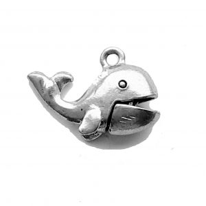 Whale With Movable Mouth – Pewter Charm