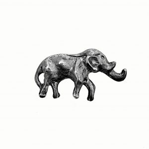 Wild Elephant Bead – Pewter Charm