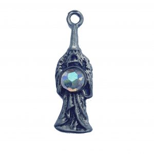 Wizard With Crystal Ball – Pewter Charm