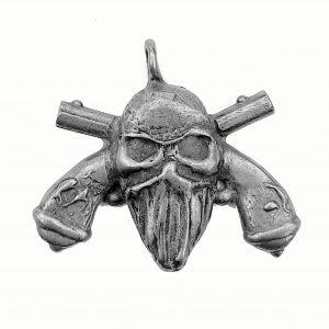 Biker Guns – Pewter Charm