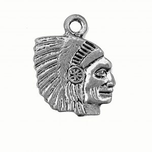 Native Head – Pewter Charm