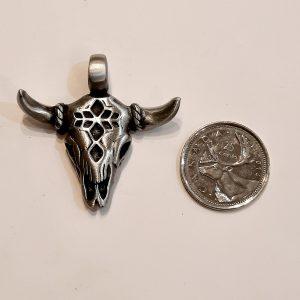 Cow Skull – Fine Pewter Pendant BFP00011